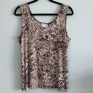 Chico's Travelers Leopard Print Top - Size 3 (XL)